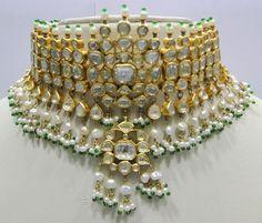 16,000.0 $Vintage antique Rose cut diamond solid 20K Gold Choker Necklace & earring pair