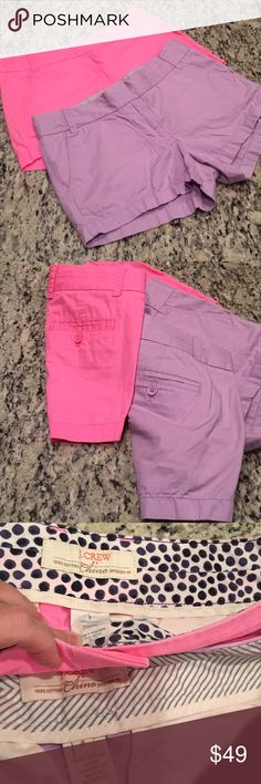 """Set of two j crew broke. In chinos Used inseam 3"""" J. Crew Shorts"""
