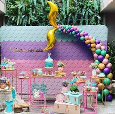 Baby Girl Party Themes Simple 50 Ideas For 2019 Mermaid Theme Birthday, Little Mermaid Birthday, Little Mermaid Parties, Mermaid Party Decorations, Birthday Party Decorations, Mermaid Baby Showers, Baby Party, Barbie, Party Ideas