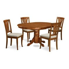 Shop for 5-piece Oval Dinette Table with Leaf and 4 Dining Chairs. Get free…