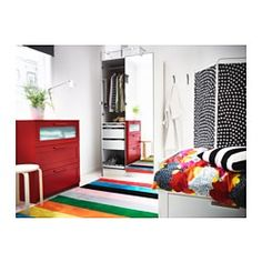 IKEA - RANDERUP, Rug, low pile, Durable, stain resistant and easy to care for since the rug is made of synthetic fibers.Easy to vacuum thanks to its flat surface.The thick pile dampens sound and provides a soft surface to walk on.