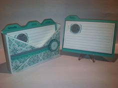 Stampin' Up! Recipe card box. From the Kitchen Of stamp set, Eastern Elegence DSP, Coastal Cabana