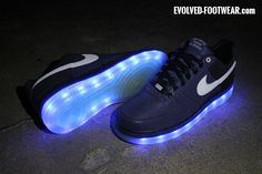 NIKE AIR FORCE 1 NRG MEDAL STAND WITH BLUE LIGHTS
