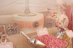 vintage wedding candy table