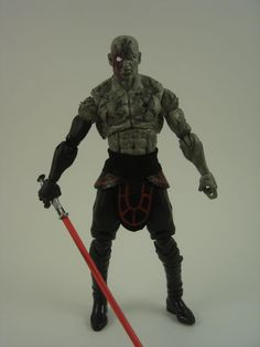Custom Star Wars 3.75in KOTOR Dark Jedi figure sith revan malak darth malgus EU