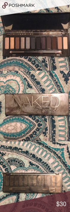 Urban decay naked smoky palette Brand new with out the box. Comes with the brand new brush. Naked Urban Decay smoky eyeshadow palette. Urban Decay Makeup Eyeshadow