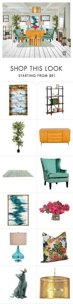 """""""Brooklyn Beatz"""" by fowlerteetee ❤ liked on Polyvore featuring interior, interiors, interior design, home, home decor, interior decorating, Nearly Natural, Catalina, Schumacher and Improvements"""