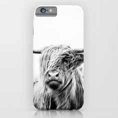 portrait of a highland cow iPhone & iPod Case https://society6.com/product/portrait-of-a-highland-cow_iphone-case?curator=alexxxxx