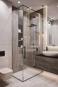 9 latest bathroom decor ideas that match with your home design 9 Contemporary Bathroom Designs, Bathroom Design Luxury, Modern Bathroom Design, Modern Interior Design, Modern Toilet Design, Luxury Bathrooms, Modern Bathrooms, Small Bathrooms, Luxury Interior