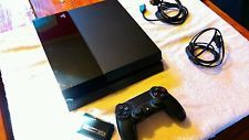 Sony PlayStation 4 (Launch Model) Nyko battery and New Dualshock 4.