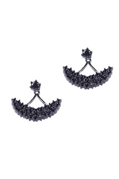 Simply Love 'Silver Half Moon' Two Sided Earings $25.65  Silver Half Moon Two Sided Earings For women. Fashion Jewlery. Fashion Jewlery  Made of Rhodium With Nickel.  sku: 18022