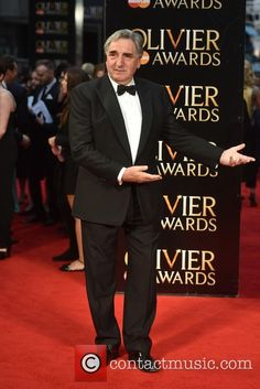 Downton Abbey's Jim Carter at the Olivier Awards 3 April 2016..
