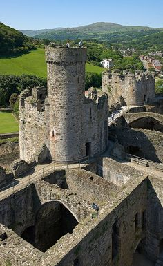 Towers of Conwy Castle,Northern Wales