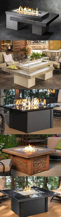 www.WoodlandDirect.com Brings Comfort and Leisure Outdoors with the Premier Collection of Fire Pit Tables