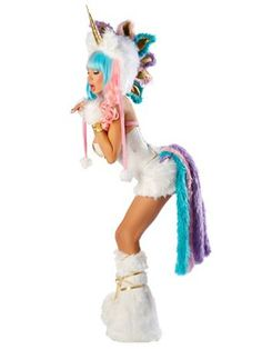 How Frickin Adorable is this!?    Women's Sexy Unicorn Corset & Skirt Costume | Sexy Animals Halloween Costumes