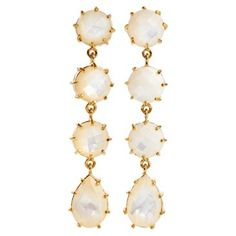 Check out this item at One Kings Lane! Mother-of-Pearl Multi Drop Earrings