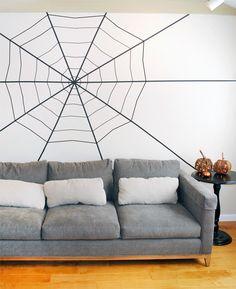 Washi Tape Spider Web