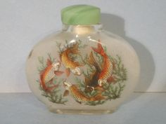 Chinese Inside Hand Painted Glass Snuff Bottle