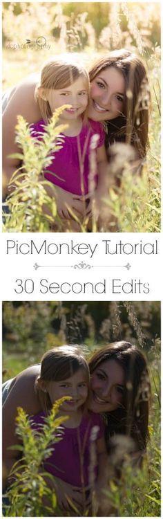 PicMonkey Edit Tutorial | How to Correct Photos in Picmonkey | creativecaincabin.com