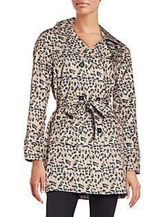 Saks Fifth Avenue - Leopard-Print Packable Rain Coat