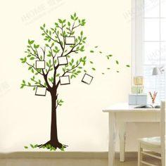 Stunning W nschen Baum Fotorahmen Wandtattoo Kinderzimmer Schlafzimmer Wohnzimmer JM Amazon de K che u Haushalt