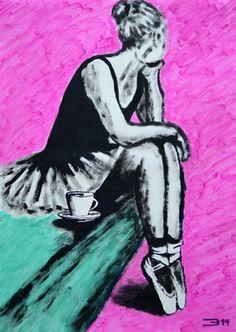 "Saatchi Art Artist Eduardo Bessa Rodrigues; Painting, ""Should I take a coffee or should I wait for you?"" #art"