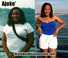 Ajoke' shares her 75 pound weight loss story.  She is now a Zumba instructor. | Black Weight Loss Success