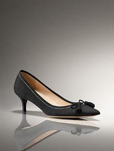 Talbots - Devyn Suede Kitten-Heel Pump | Shoes | Medium