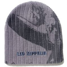 Official Led Zeppelin Beanie Hat in Grey featuring the airship design and embroidered Logo Officially Licensed Merchandise See all Led Zeppelin Band