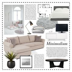 """""""Minimalism"""" by ceci-alva ❤ liked on Polyvore featuring interior, interiors, interior design, home, home decor, interior decorating, Crate and Barrel, TemaHome, Marc Jacobs and CB2"""