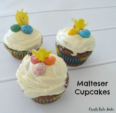 Non chocolate easter gifts for toddlers easter easter crafts it only seemed fitting to make easter cupcakes so we came up with this recipe for chocolate malteser cupcakes negle Choice Image