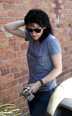 """Kristen Stewart out and about after a meeting for """"The Runaways"""" with Joan Jett on June 17, 2009."""