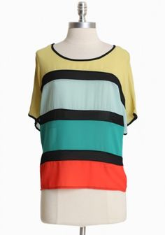 Candy Coated Colorblock Top