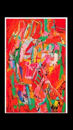 """André Lanskoy - """"Le feu souterrain"""", 1960 - Huile sur toile - 100 x 65 cm (*)"""