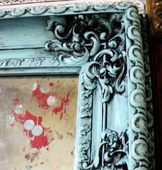 Going to antique a frame and acid wash a mirror for the wall next to the door.
