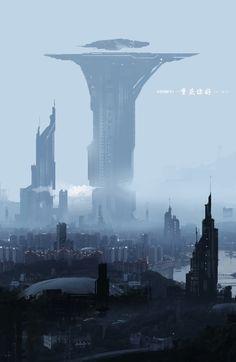 future sci fi scenery The post Hello, Chongqing! & SF Atlas [Cities & Postapocalypse] appeared first on Film Germany . Cyberpunk City, Futuristic City, Futuristic Architecture, Fantasy City, Sci Fi Fantasy, Fantasy World, Arte Sci Fi, Sci Fi City, Science Fiction Art