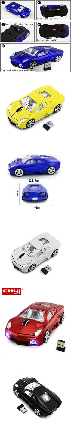 Sports Car Shaped Mause1600 DPI USB Wireless 2.4 GHZ Mouse Mice Optical Game Mouse Gaming Mouse for Computer Laptop PC Gamer
