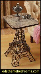 "Set your cocktail glass atop a ""view from above!"" This Basil Street Gallery clever iconic table features a bird's eye view map of Paris as i..."
