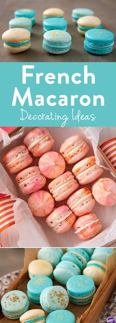 Easy French Macaron Decorating Ideas -  If you are ready to take your macarons to a whole new level, here are 11 easy macaron decorating ideas for you to try!