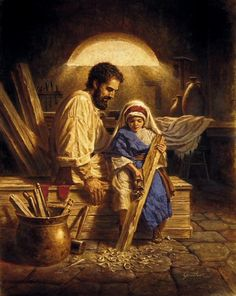 (via Sarah Reinhard) Joseph and the Child Jesus - Corbert Gauthier                                                                                                                                                                                 More