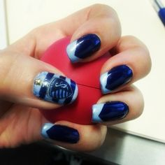 @Sporting Kansas City home opener #nails inspired by new away jersey (via rock_chalk_nina on Instagram)