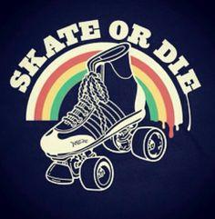 skate or die Roller Derby Skates, Roller Derby Girls, Quad Skates, Roller Skating, Skating Rink, Illustration Photo, Illustrations, Derby Names, Roller Sports