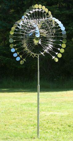 """Bob- Scythe"" kinetic wind sculpture"