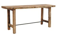 Davis Console • Made of: reclaimed pine/boat wood • Dimensions: 78.5 inches W x 24 inches D x 35.5 inches H • Color: natural