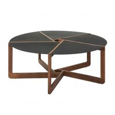 Fun geometry meets coffee table.  Would be amazing in a space where you could view it from above...