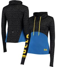 UCLA Bruins Colosseum Women's Scaled Cowl Neck Pullover Hoodie - Black/Blue - $54.99