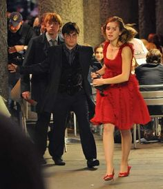 Harry Potter and the Deathly Hallows filming in central London