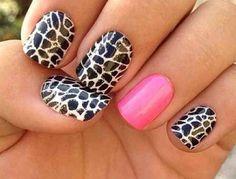 Zebra print nail art pink nail nail art love varnish paint nails