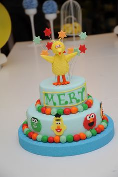 Susame street cake. First birthday cake.