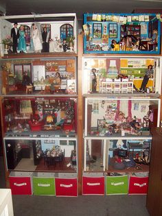 Barbie Dioramas  OR ANYTHING YOU LIKE, GREAT SPACE FOR CREATIVE PLAY, AND LOOK AT BOTTOM, MORE VERY MUCH NEEDED STORAGE.